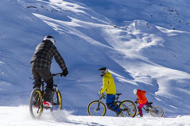 Troquer vos skis contre un VTT sur les pistes de Val Thorens  - © C. Cattin / Ot Val Thorens