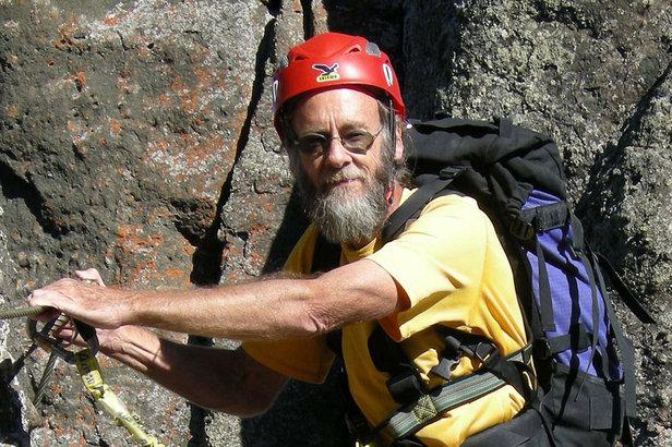 Eugen Hüsler - der Klettersteigpapst in Aktion