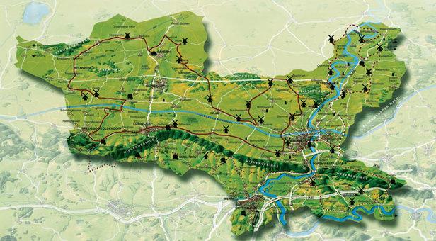 Die Mühlenkarte  - © www.minden-erleben.de