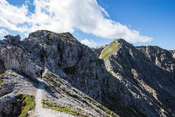 Der Weg zum Klettersteig Hohe Gänge ist anfangs noch breit und gemütlich