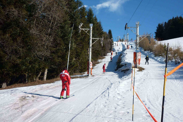Sur les pistes de ski de Turini Camp d'Argent