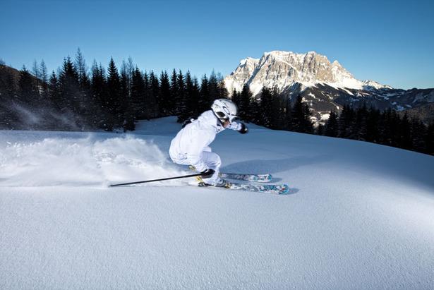 Skifahrer in Grubigstein
