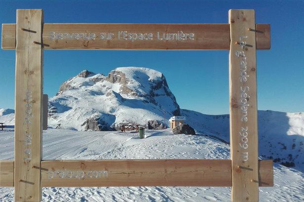 La Grande Séolane vous attend demain au soleil pour une belle journée de ski sur le domaine de Praloup