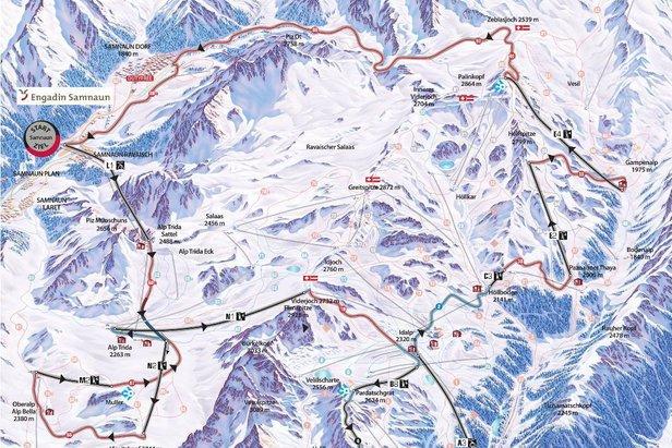 Strieborný Pašerácky chodník v Ischgl-Samnaun je dlhý 24,7 km  - © Ischgl