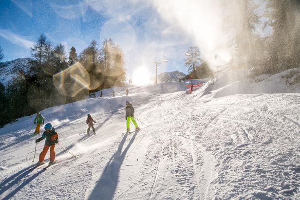 La neige est au rendez-vous à Nendaz ou la totalité du domaine skiable est praticable