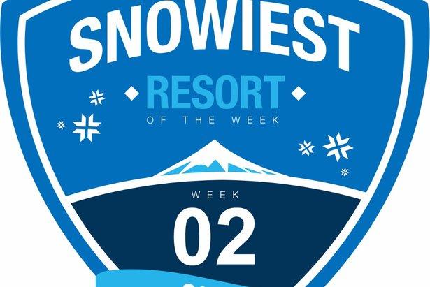 Sneeuwrijkste gebied week 2