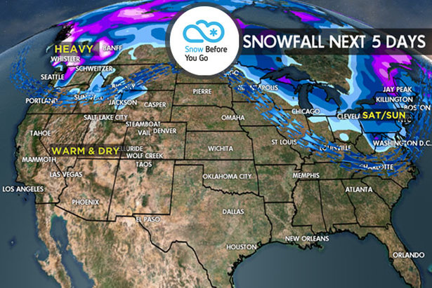 3.16 Snow Before You Go: Look North for Fresh Powder ©Meteorologist Chris Tomer