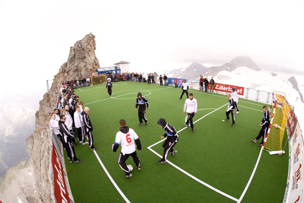 Football at 3250m By Hintertux Summerski Slopes