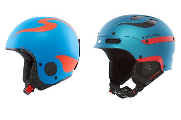Neue Helme von Sweet Protection: Links der Rooster Discesa S, rechts der Trooper.