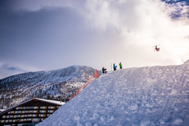 World Cup i Big Air i Myrkdalen 2017: Fra trening onsdag 22. mars.