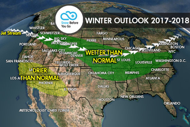 17/18 Ski Season Long-Range Weather ForecastMeteorologist Chris Tomer