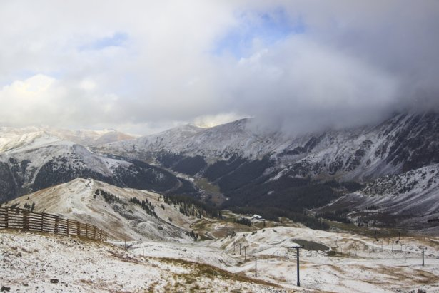 Arapahoe Basin's first snow of the 17/18 season.