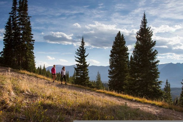 Breck's interconnected trail system lets you get away from it all.  - © Breckenridge Tourism Office / Photographer: Liam Doran