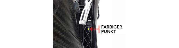 Falls Ihr Stiefel keinen farbigen Punkt auf der Innenseite des Spoilers hat, ist er von dieser Rückrufaktion betroffen.  - © Arc´teryx