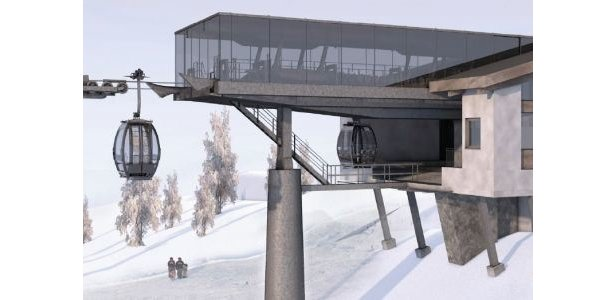 Neue Gondelbahn: Weltneuheit fürs Gstaader Skigebiet ©ZVG
