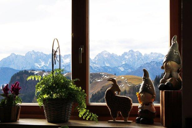 Výhled z horské chaty Priener Hütte