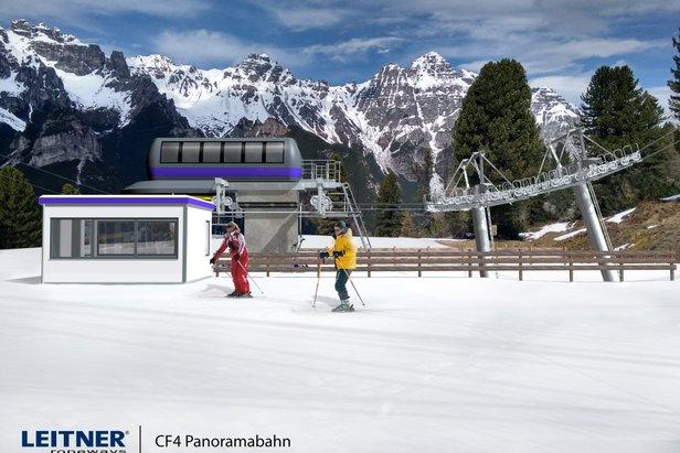 Schlick 2000 - nowa czteroosobowa kanapa Panoramabahn (stacja dolna)  - © Leitner