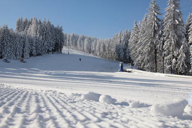 Skifahren am Fallbachhang in Oberhof