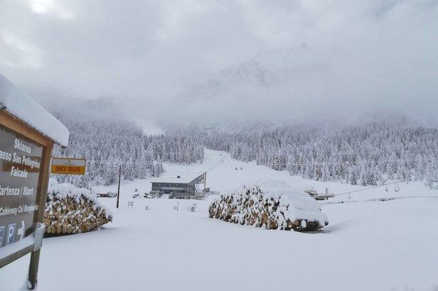 Jusqu'à 1 mètre de neige sur les Alpes- ©Ski area San Pellegrino - Dolomiti | facebook
