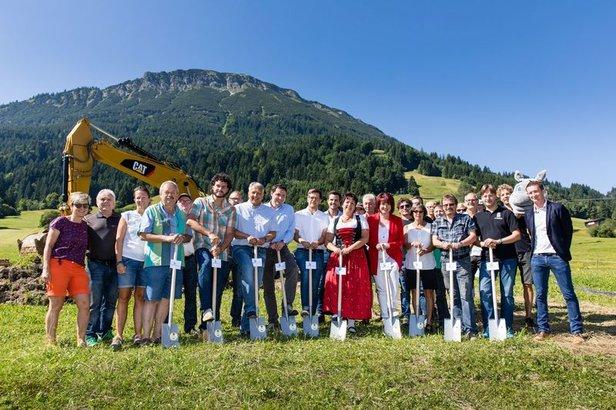 Spatenstich im Skizentrum Pfronten - Steinach