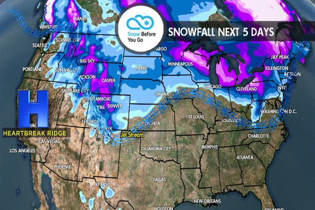 12.14 Snow Before You Go: Wintry Pattern Northeast, Mild Snow West ©Meteorologist Chris Tomer