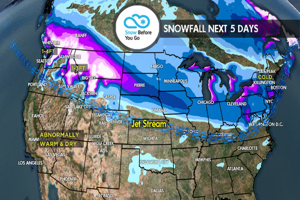 12.28 Snow Before You Go: Jet Stream & Heavy Snow Favor North ©Meteorologist Chris Tomer