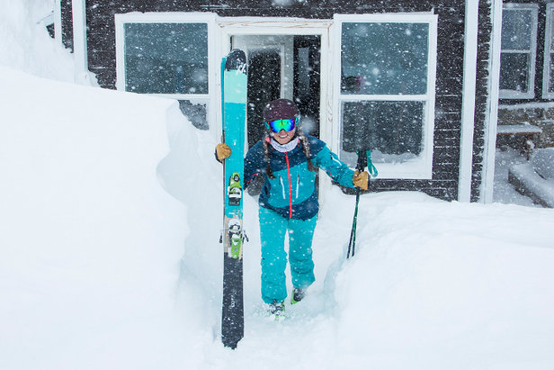 Wake up to fresh snow gently knocking on your front door.  - © Alta Ski Area | Adam Clark