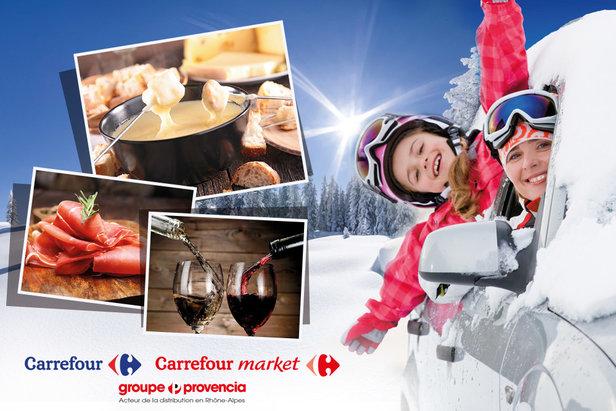 Faire ses courses sur la route des stations de skiGroupe Provencia
