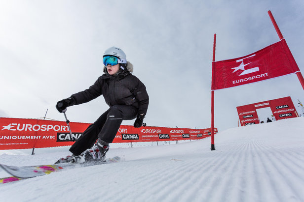 Dans la peau d'un champion de ski lors de l' #EurosportWinterTour by CanalD. Malacrida Media