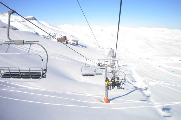 First tracks at Valle Nevado, Chile  - © Valle Nevado