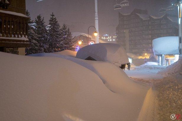 Prognoza opadów: w najbliższych dniach znowu silne śnieżyce w Alpach i w Polsce- ©facebook Val Thorens