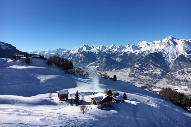 Le Valais: la magie des sports d'hiver sur un plateau- ©Station de Veysonnaz