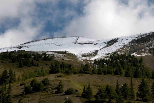 August Snow At Banff