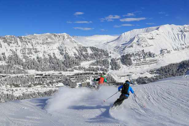 Great skiing on the perfectly prepared slopes of Flaine and Grand Massif.  - © OT Flaine / Monica Dalmasso