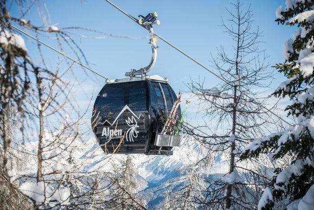 Gondel im Skigebiet Kronplatz