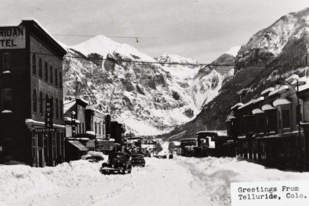 Most say Telluride is named after Tellurium, a nonmetallic element associated with rich mineral deposits of gold and silver; others believe it stems from To-Hell-You-Ride (a nod to the towns boisterous past).  - © Telluride Historical Museum