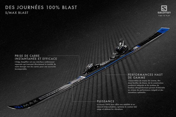 Sensation de Blast garantie avec les skis Salomon S/MAX et S/RACE ©Salomon