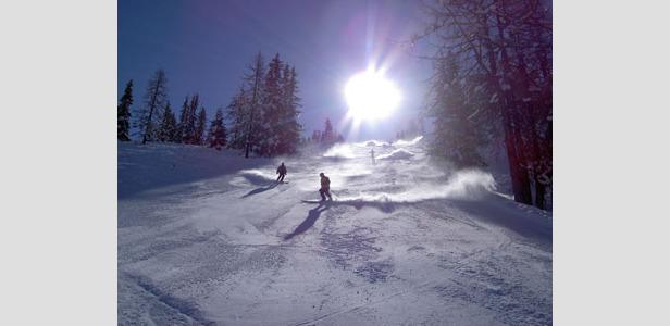 Sonne und Schnee in Zauchensee