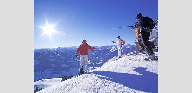 Wilder Kaiser - skiing in the sun