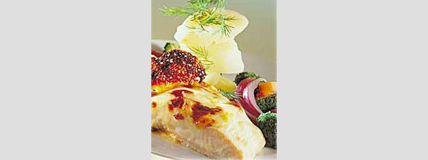 Trouts cooked in a parcel with Emmental of Savoy cheese