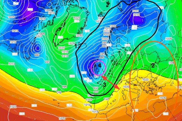 ☀ Météo des neiges : situation et prévisions pour les prochains jourswetterzentrale.de – Image retouchée par Allan CROUVIZIER