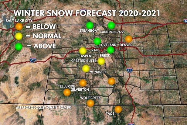 Meteorologist Chris Tomer's forecast for winter 20/21