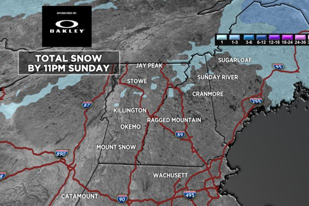 The Northeast won't see much snow this weekend.  - © Meteorologist Chris Tomer