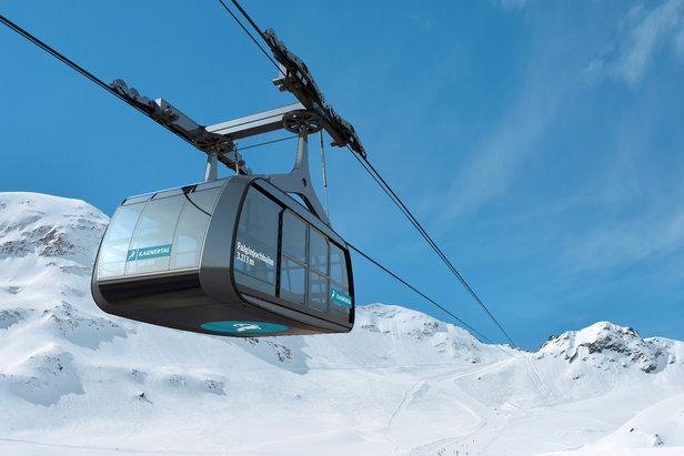 Nowa gondola Falginjochbahn na lodowcu Kaunertal  - © Kaunertaler Gletscherbahnen GmbH