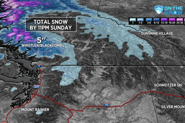 The PNW could see some snowfall through the weekend.