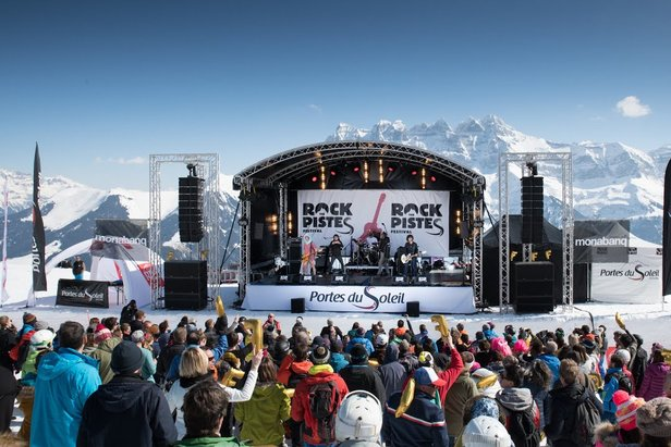 Rock the Pistes in the Portes du Soleil  - © Rock the Pistes/Avoriaz