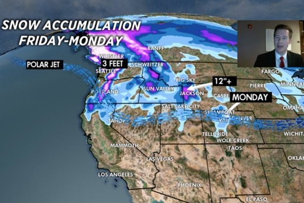 A strong jet stream ushers two different storm systems into the Pacific Northwest between Friday and Monday.