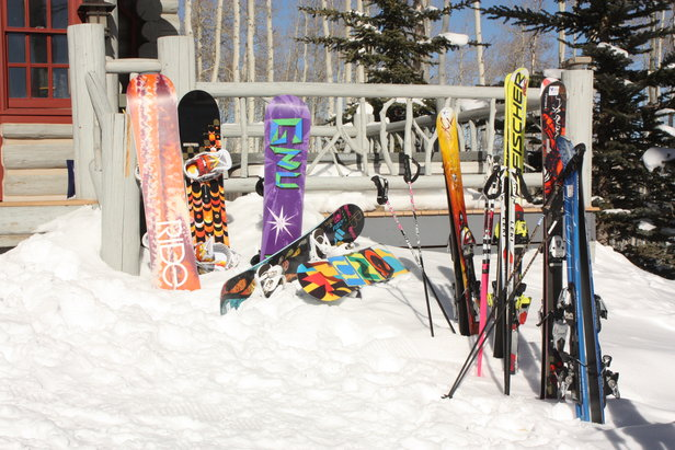 Ski hire or schlep your own skis to the slopes?- ©James Young