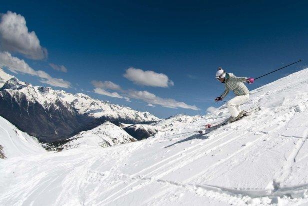 Skier in Cerler, Spain