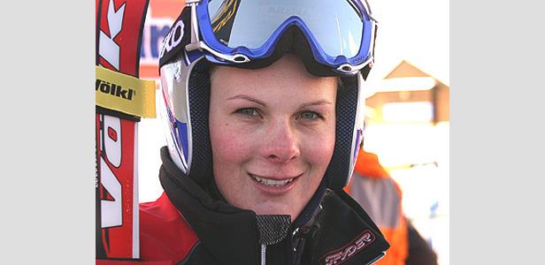 Nicole Hosp Schnellste im Training - Petra Haltmayr gute Sechste- ©Gerwig Löffelholz